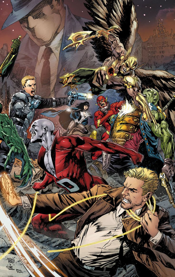 Justice League Dark Vol 1 - Penciler: Ivan Reis / Inker: Joe Prado / Colourist: Rod Reis