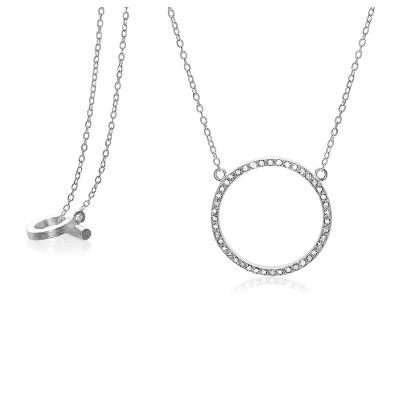 Cosmos necklace in silver with diamonds. http://anettewille.dk