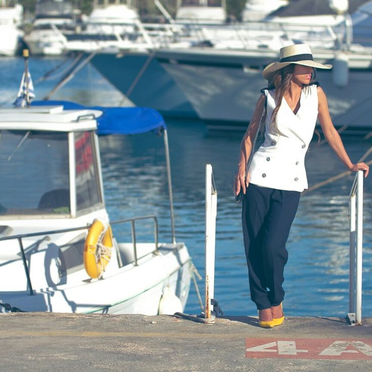 #white blue marine outfit