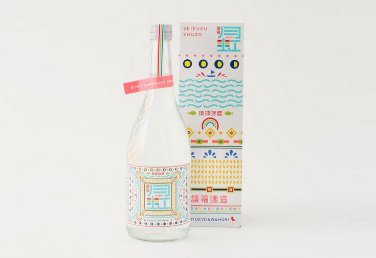 Ryukyu Awamori Liquor Gekkou. Designed by HAM and available at Ishigaki Specialty Foods.