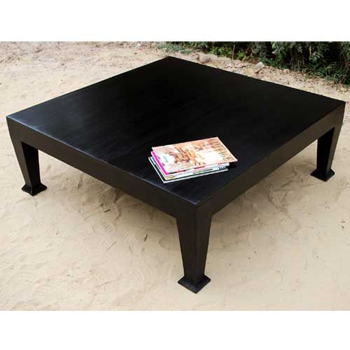 Rustic Solid Wood Black Cocktail Square Traditional Coffee Table - 25+ Best Ideas About Black Square Coffee Table On Pinterest