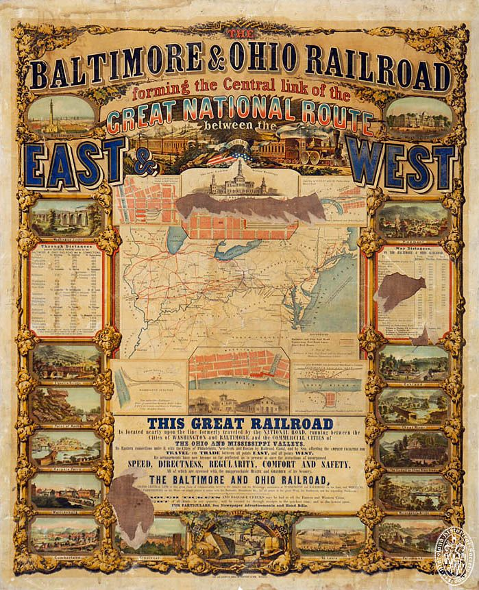 baltimore and ohio railroad essay The great railroad strike of 1877 was the country's first major  on july 13, the baltimore & ohio line cut the wages of all  railroad employees responded.