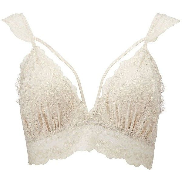 Charlotte Russe Caged Floral Lace Bralette ($13) ❤ liked on Polyvore featuring plus size women's fashion, plus size clothing, plus size intimates, plus size bras, tops, taupe, longline bra, strappy bras, sexy bras and long line bra