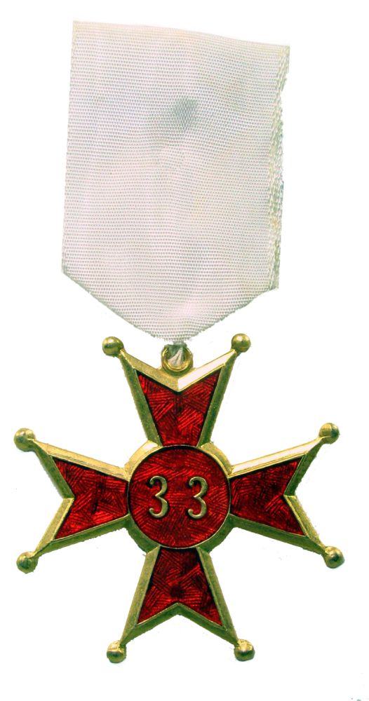 GOSP : Medalha do Grau 33 do R.E.A.A.