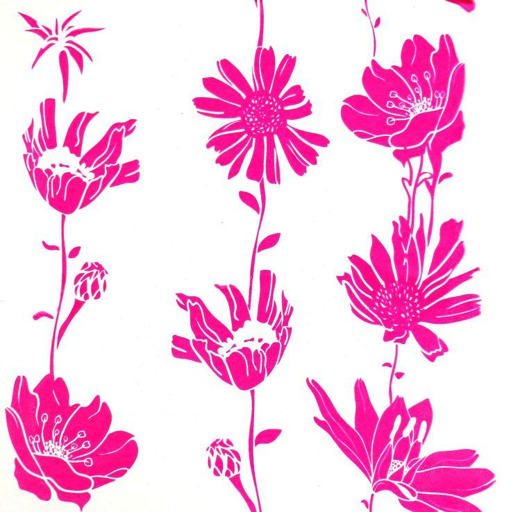 Card printed using the Screen Sensation + Botanical screen