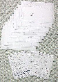 型紙 変形ドルマン長袖カットソーワンピース M・L・LL