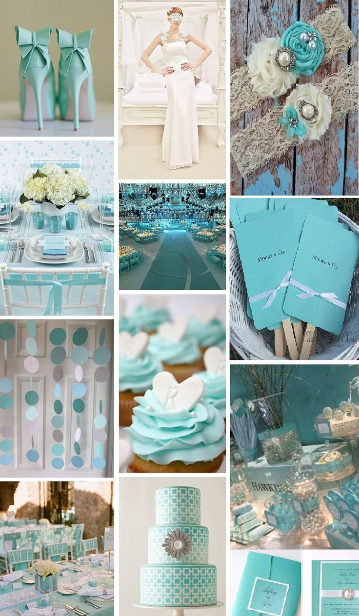 Tiffany Blue Wedding Inspiration Moodboard                                                                                                                                                      More