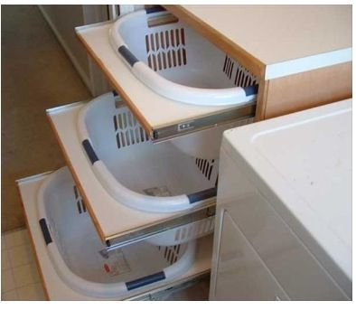 Laundry room ideas. This is v. smart, I like this one.