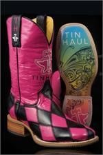 Tin Haul Women's Harlequin Pink Cowgirl Boots