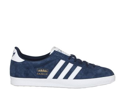 Sneakers suède navy Gazelle Adidas Originals prix promo Baskets Femme  Monshowroom 95.00 \u20ac