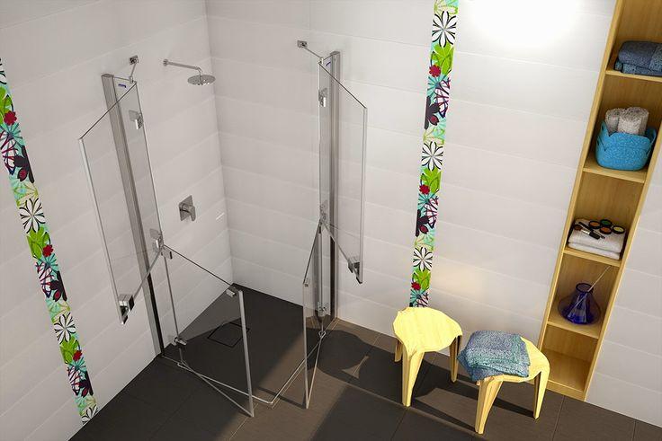 14 best ba os adaptados images on pinterest bathroom - Mamparas para banos ...