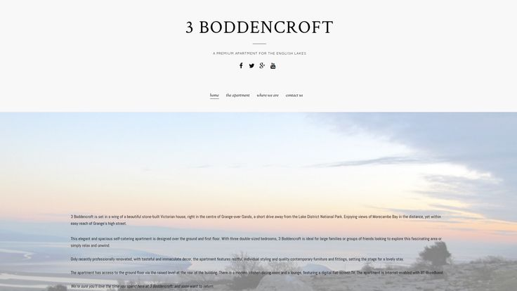 3 boddencroft is a site for an exclusive holiday let in Grange-over-Sands in the English Lake District.
