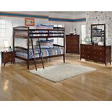 Ashley Rayville Full/Full Panel Bunk Bed Bedroom Set - The Rayville bedroom collection creates a stylish contemporary furniture collection with the unique shaped pilasters complementing the rich stained finish and accenting nickel color finished hardware all brought together with numerous bed options that are sure to please any age group.