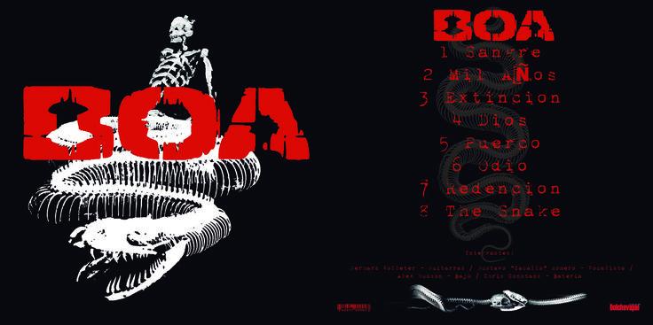 Cover de portada de la banda chilena BOA disco homonimo  Trabajo en digital