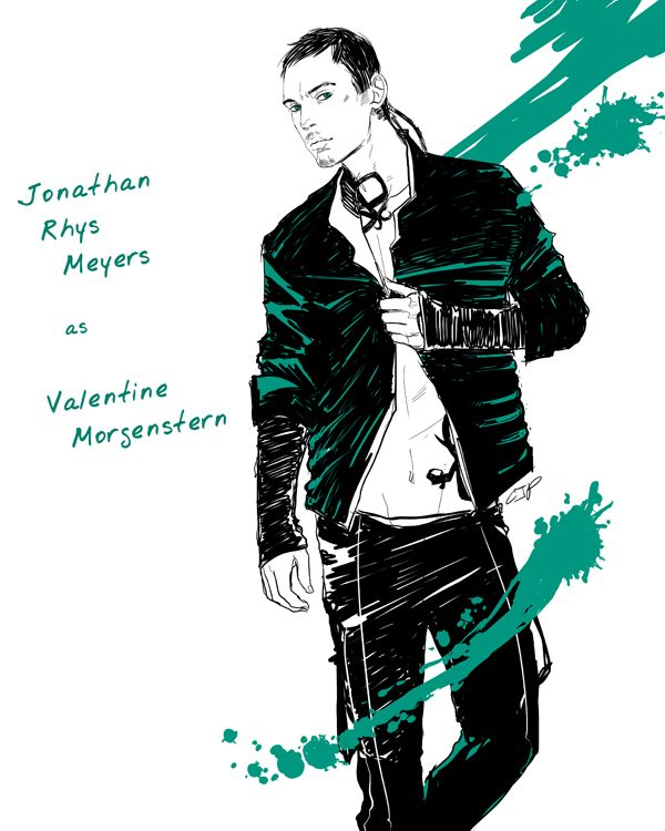 Jonathan Rhys Meyers as Valentine Morgenstern (done by Cassandra Jean)