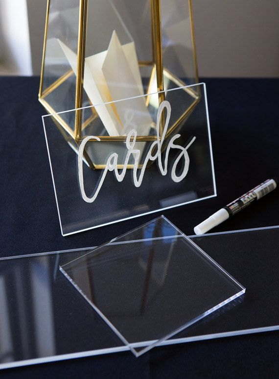 These clear acrylic pieces are made to order in your choice size and can be DIY drawn on for your wedding signs! Use these for custom menus, photo props, card or guestbook signs, or anything you can imagine! These are a modern and chic way to add some personality and class to your wedding or upcoming event. Size: 1/4 thick HIGH QUALITY clear acrylic  Choose Size From Drop Down  Add quantity needed to cart  Please write your event date in the note to seller when checking out.  **For bulk ...
