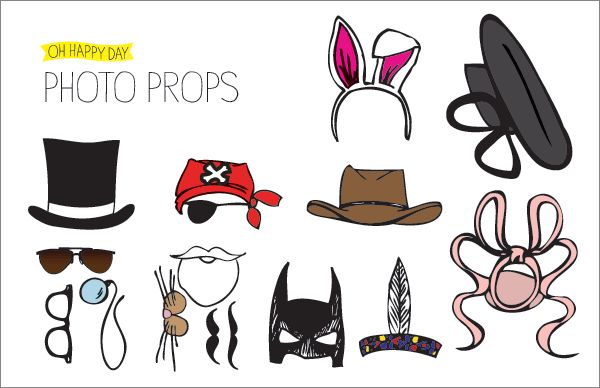 Awesome and easy to make props from http://ohhappyday.com/2011/05/photobooth-props-diy-and-free-printable-2/