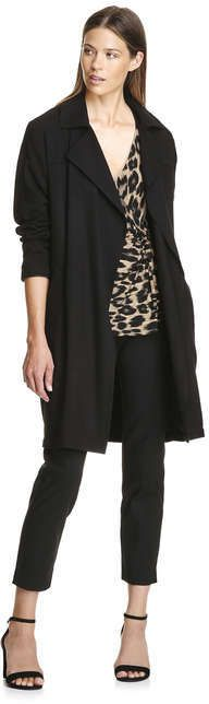 Joe Fresh Women's Knotted Wrap Front Tee, Brown (Size M)
