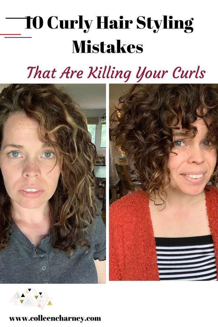 Layeredcurlyhair In 2020 Kort Haar Kapsels Haarstijlen Kort Haar