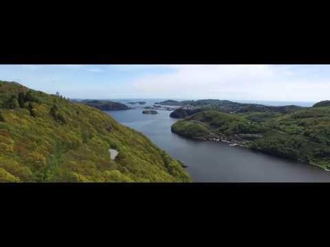 Sniktitt på ny film med Farsund fra lufta - YouTube