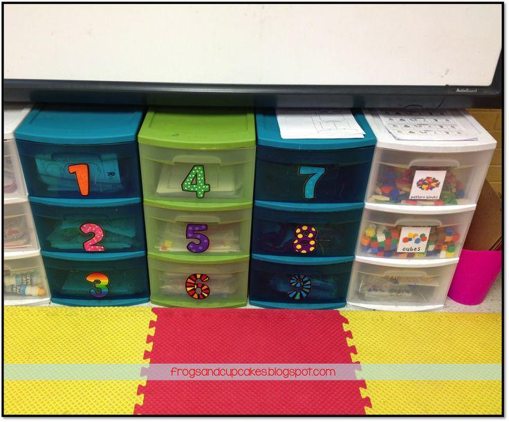 great idea for literacy center storage & organization