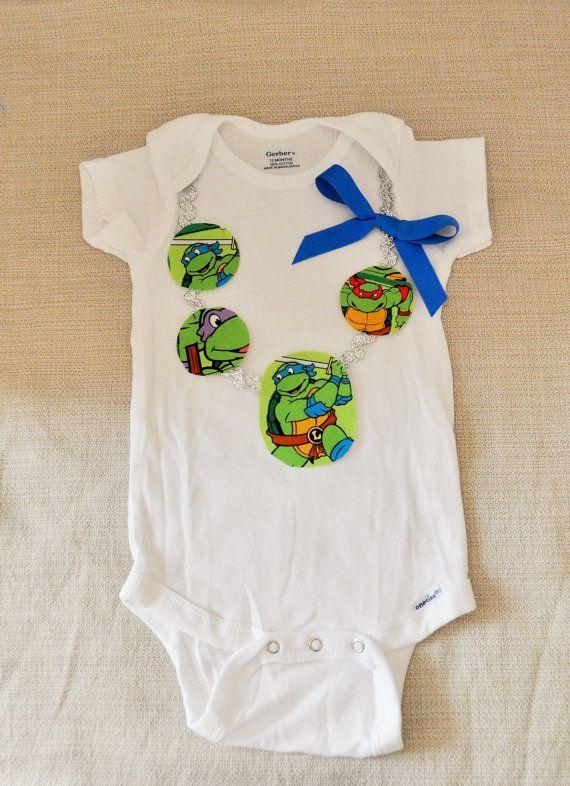 Rylo GIRLS ninja turtle shirt ninja turtle onesie  by RYLOwear, $18.00