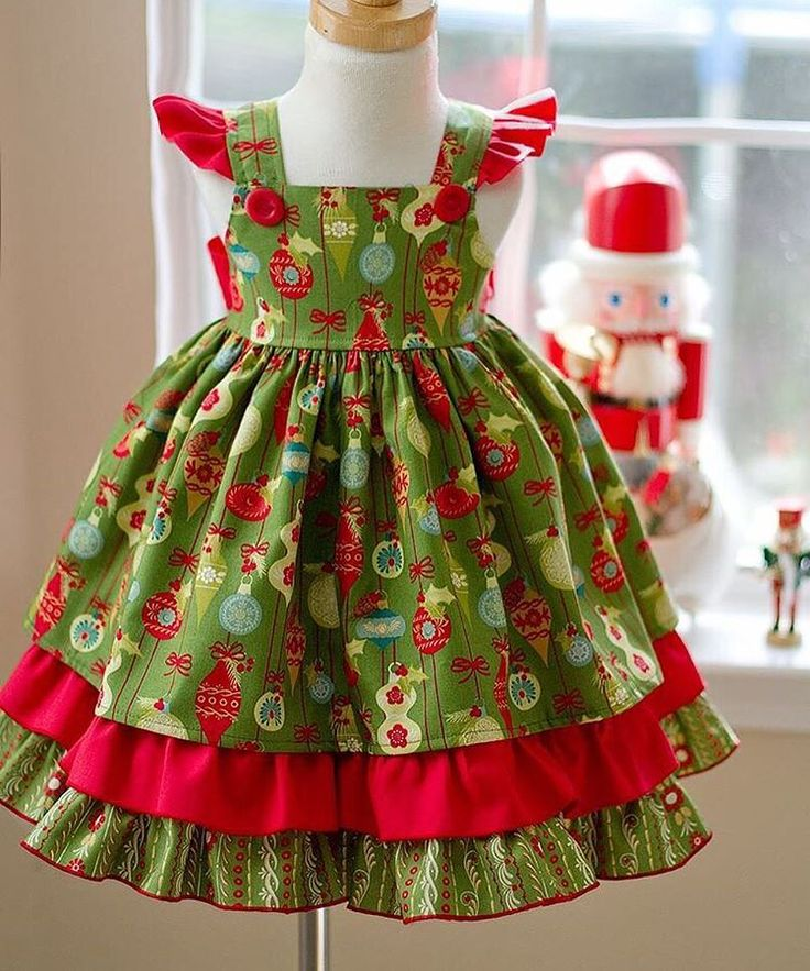 The Mistletoe dress will be available in green, red and black.  #kinderkoutureclothing #