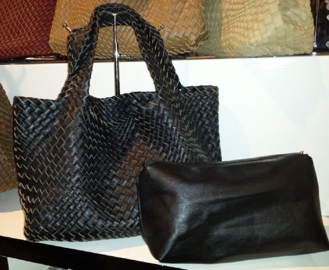 Ladies Faux Woven Leather Handbag with a Pouch bag inside borsa Beutel sac 50,18 € su www.bandana.it