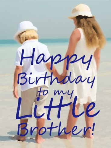 Memory of my Little Brother - Happy Birthday Card: Having trouble picking a birthday card for your baby brother? Look no further than this gem! The picture in the background is faded enough to make it a perfect fit for any sibling duo, while the sentiment is sweet enough to relate to any family. Customize the inside of this birthday card to make it suitable for your little brother on his birthday. He's bound to love it!