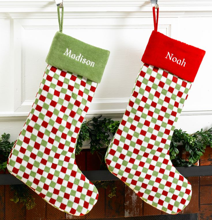 Modern stockings from merrystockings christmas stockings over the
