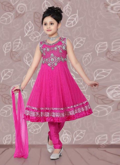 Ruby Net Readymade Kids Salwar Kameez