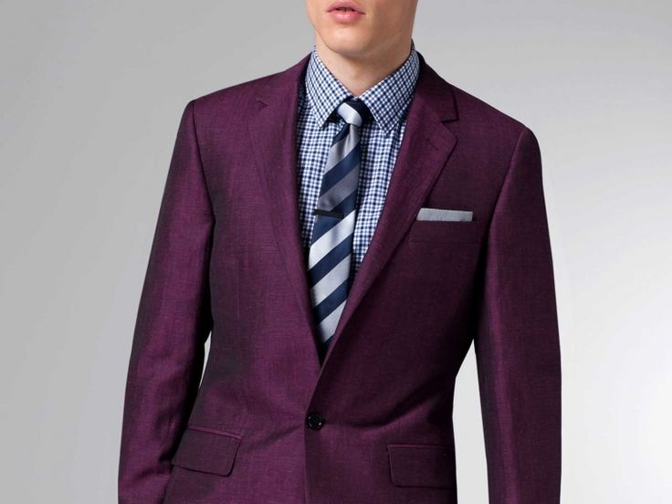 The Ultimate Summer Burgundy Linen & Wool Suit 1