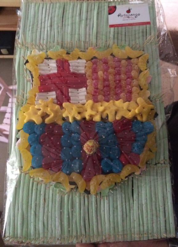 17 mejores im genes sobre tarta de chuches futbol madrid - Lucio barcelona decoracion ...