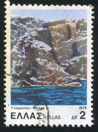 Melos island,stamp printed by Greece, circa 1979