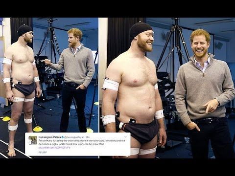 Prince Harry Meets a Group of Invictus Games and Gave Short Speech at a Trial in University of Bath