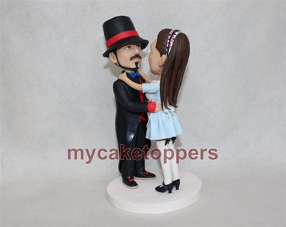 Cake Topper Custom Wedding Personalized For Tophat Figuirnes Bride And Groom Lifelike
