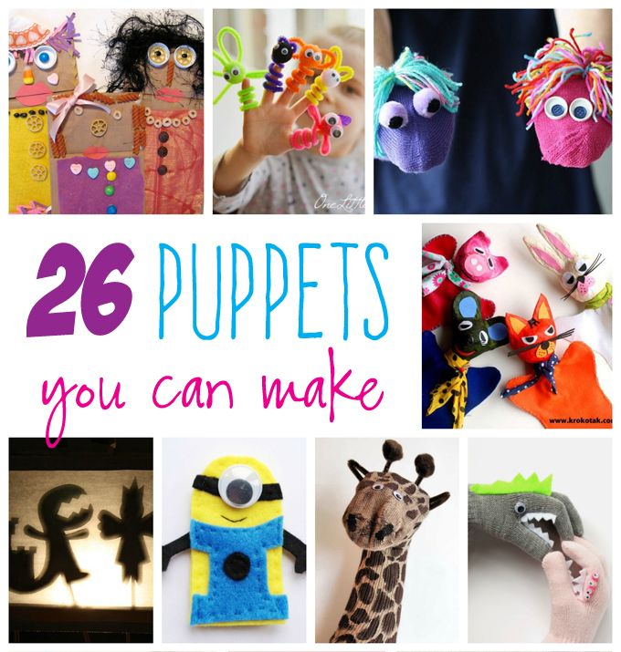 26+ Puppets Niños Usted Puede Hacer