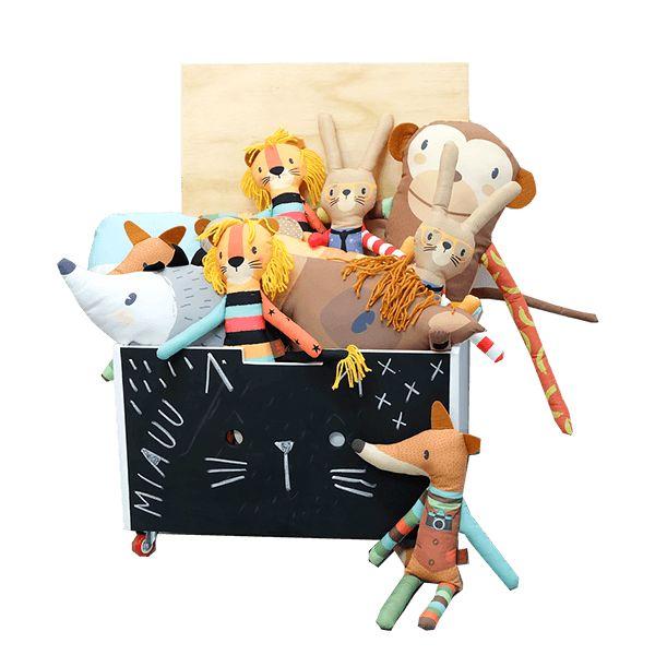 Baul Para Juguetes. Baúl móvil para guardar juguetes monstruosos !!