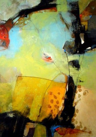Wan Marsh Studio - abstract Love the contrasts: large/small; black/soft colours; thin/thick lines. Judee