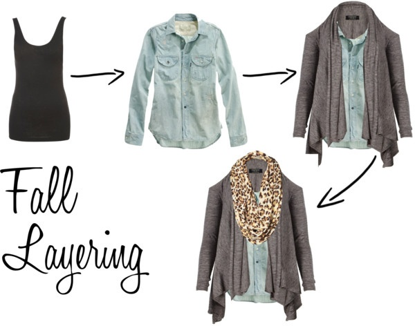Fall Layering...easy as 1, 2, 3!