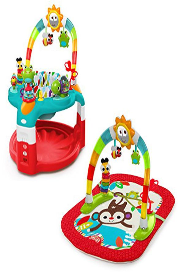 fa9ff3e0d068 Bright Starts 2-in-1 Silly Sunburst Activity Gym and Saucer