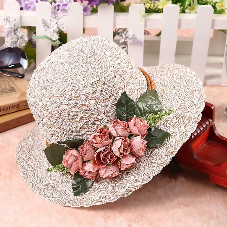 High Quality Lafite Flower Straw Hat For Women