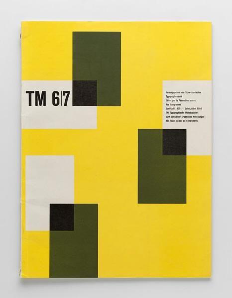 TM Typographische Monatsblätter, issue 6/7, 1955. Cover designer: Alois Sigrist