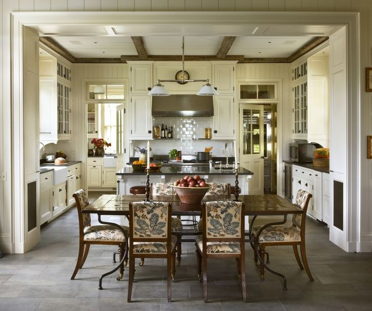Kitchen Peninsula With Column: Stone Fireplaces, Old Stone Houses And Fireplaces