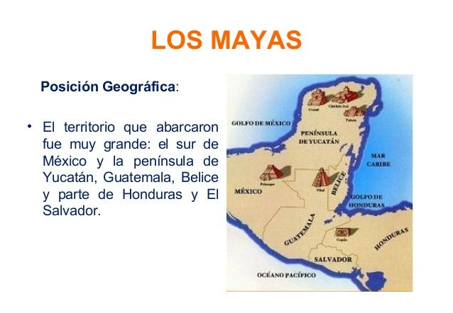 Ubicación geográfica de los mayas (y temporal) | Geografica ...