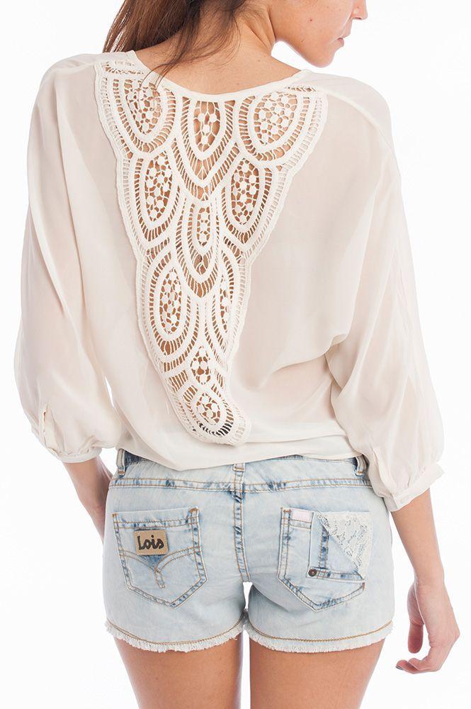 Shorts + blusa transparente de Lois Jeans