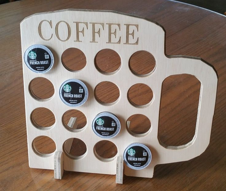 Wooden K Cup Holder / Display with Coffee laser engraved Made In The USA Only 12.95 by VermontMadeDesigns on Etsy