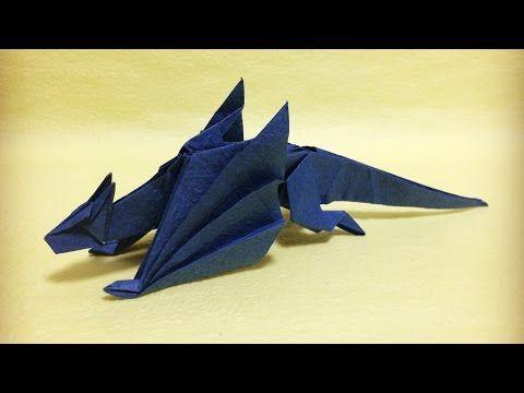 折り紙 立体 ドラゴン 折り方 作り方 How to make an origami dragon - YouTube