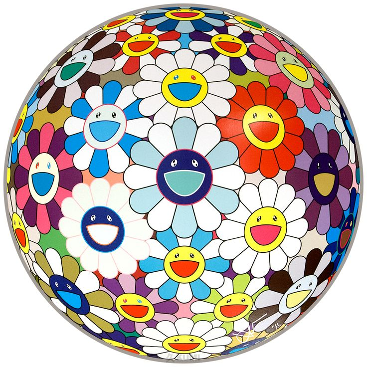 TAKASHI MURAKAMI - FLOWER BALL (SEQUOIA SEMPERVIRENS) - KUMI CONTEMPORARY http://www.widewalls.ch/artwork/takashi-murakami/flower-ball-sequoia-sempervirens/
