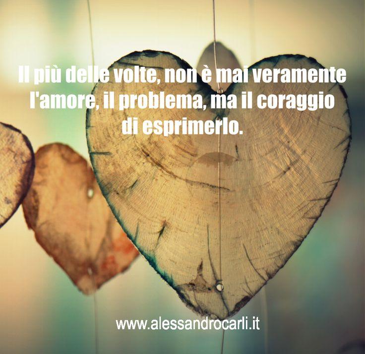 Ci sono persone che sanno amare profondamente, ma non sono capaci di esprimerlo. Spesso, per gli altri è come se quell'amore non esistesse.